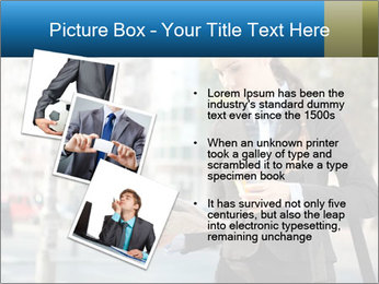 Businesswoman In City PowerPoint Template - Slide 17