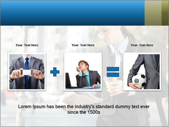 Businesswoman In City PowerPoint Template - Slide 22