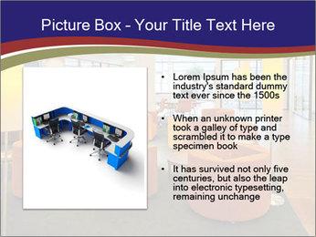 Orange Sofas In Lounge Area PowerPoint Template - Slide 13