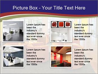 Orange Sofas In Lounge Area PowerPoint Template - Slide 14