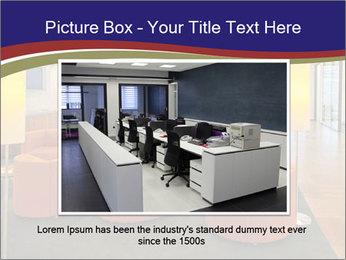 Orange Sofas In Lounge Area PowerPoint Template - Slide 16