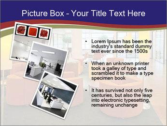 Orange Sofas In Lounge Area PowerPoint Template - Slide 17