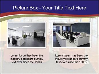 Orange Sofas In Lounge Area PowerPoint Template - Slide 18