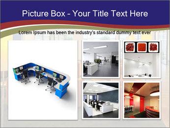 Orange Sofas In Lounge Area PowerPoint Template - Slide 19