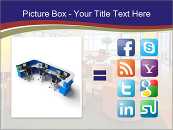 Orange Sofas In Lounge Area PowerPoint Template - Slide 21