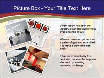 Orange Sofas In Lounge Area PowerPoint Template - Slide 23