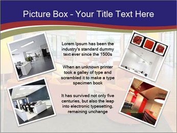 Orange Sofas In Lounge Area PowerPoint Template - Slide 24