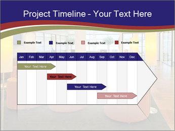 Orange Sofas In Lounge Area PowerPoint Template - Slide 25