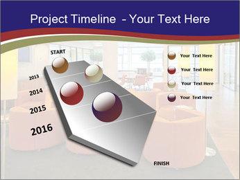 Orange Sofas In Lounge Area PowerPoint Template - Slide 26