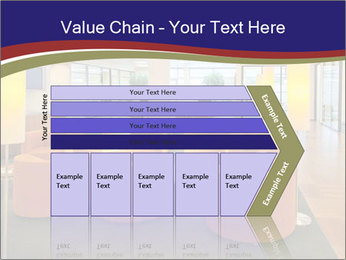 Orange Sofas In Lounge Area PowerPoint Template - Slide 27
