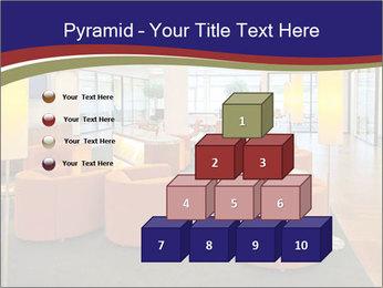Orange Sofas In Lounge Area PowerPoint Template - Slide 31