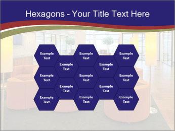 Orange Sofas In Lounge Area PowerPoint Template - Slide 44
