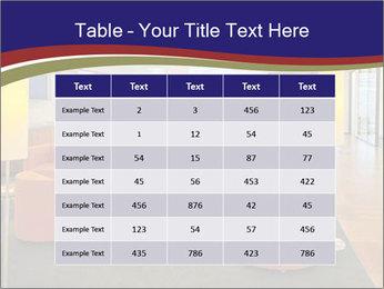 Orange Sofas In Lounge Area PowerPoint Template - Slide 55