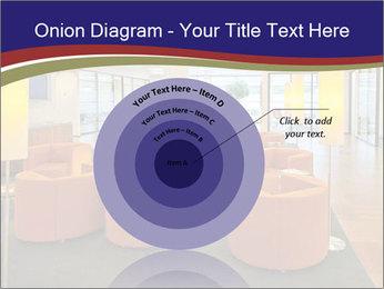 Orange Sofas In Lounge Area PowerPoint Template - Slide 61
