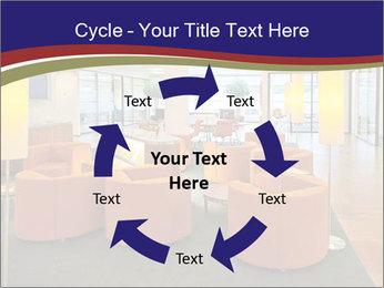 Orange Sofas In Lounge Area PowerPoint Template - Slide 62