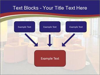 Orange Sofas In Lounge Area PowerPoint Template - Slide 70
