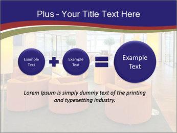 Orange Sofas In Lounge Area PowerPoint Template - Slide 75