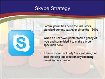 Orange Sofas In Lounge Area PowerPoint Template - Slide 8