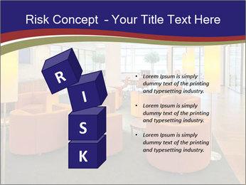 Orange Sofas In Lounge Area PowerPoint Template - Slide 81