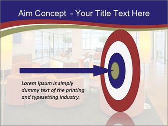 Orange Sofas In Lounge Area PowerPoint Template - Slide 83