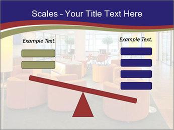 Orange Sofas In Lounge Area PowerPoint Template - Slide 89