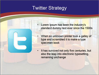 Orange Sofas In Lounge Area PowerPoint Template - Slide 9