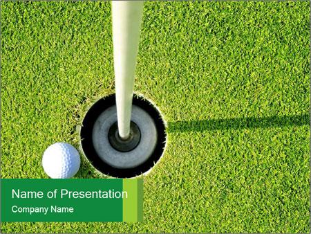 golf play school powerpoint template & backgrounds id 0000089682, Modern powerpoint