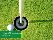 Golf Play School PowerPoint Template
