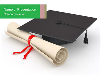 Graduation Paper PowerPoint Template