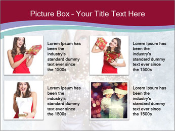 Girl And Snowflakes PowerPoint Template - Slide 14