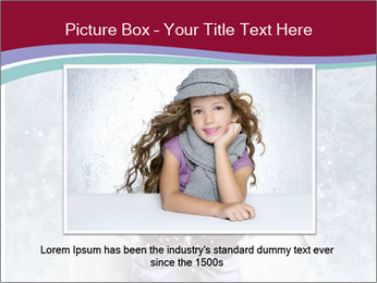 Girl And Snowflakes PowerPoint Template - Slide 16