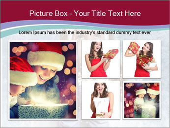 Girl And Snowflakes PowerPoint Template - Slide 19