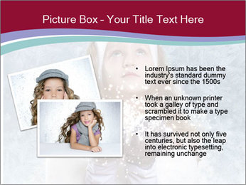 Girl And Snowflakes PowerPoint Template - Slide 20