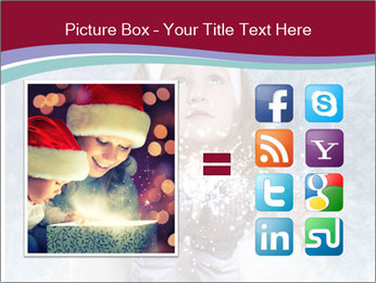 Girl And Snowflakes PowerPoint Template - Slide 21