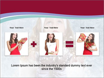 Girl And Snowflakes PowerPoint Template - Slide 22