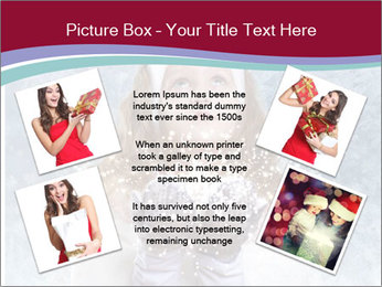 Girl And Snowflakes PowerPoint Template - Slide 24