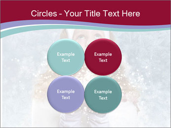 Girl And Snowflakes PowerPoint Template - Slide 38