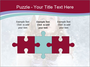 Girl And Snowflakes PowerPoint Template - Slide 42