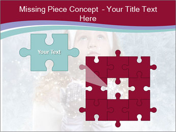 Girl And Snowflakes PowerPoint Template - Slide 45