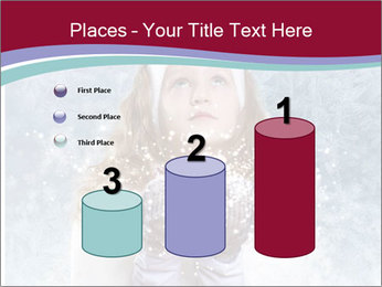 Girl And Snowflakes PowerPoint Template - Slide 65