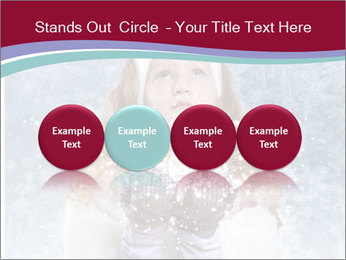 Girl And Snowflakes PowerPoint Template - Slide 76