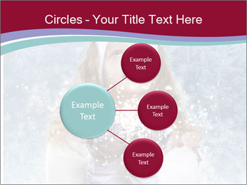 Girl And Snowflakes PowerPoint Template - Slide 79
