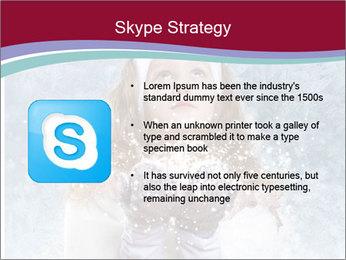 Girl And Snowflakes PowerPoint Template - Slide 8