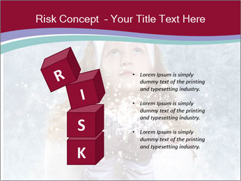 Girl And Snowflakes PowerPoint Template - Slide 81