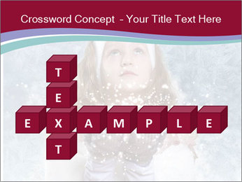 Girl And Snowflakes PowerPoint Template - Slide 82