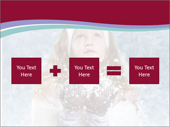 Girl And Snowflakes PowerPoint Template - Slide 95