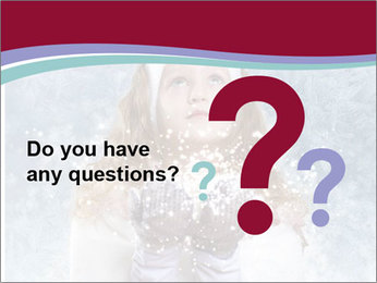 Girl And Snowflakes PowerPoint Template - Slide 96