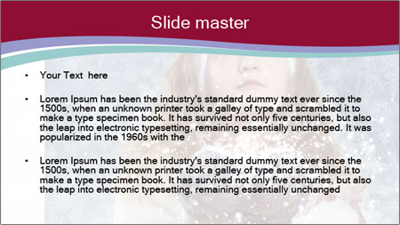 Girl And Snowflakes PowerPoint Template - Slide 2