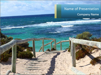 Rocks On Beach PowerPoint Template - Slide 1