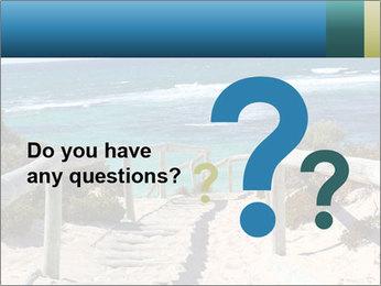 Rocks On Beach PowerPoint Template